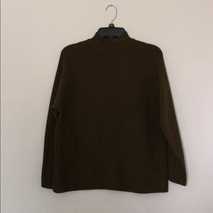 Olive Green Turtleneck Sweater
